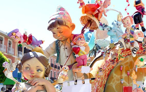 doll decorations at las fellas festival in valencia