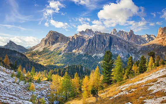 belluno dolomites national park in italy