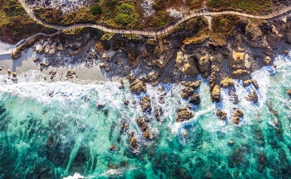 Coastline from a drone