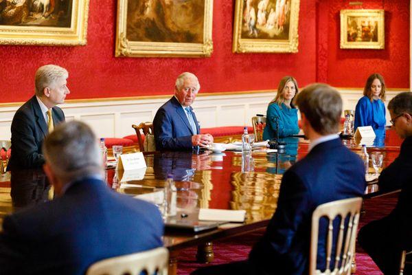 Prince Charles meeting CEOs at G7 Summit