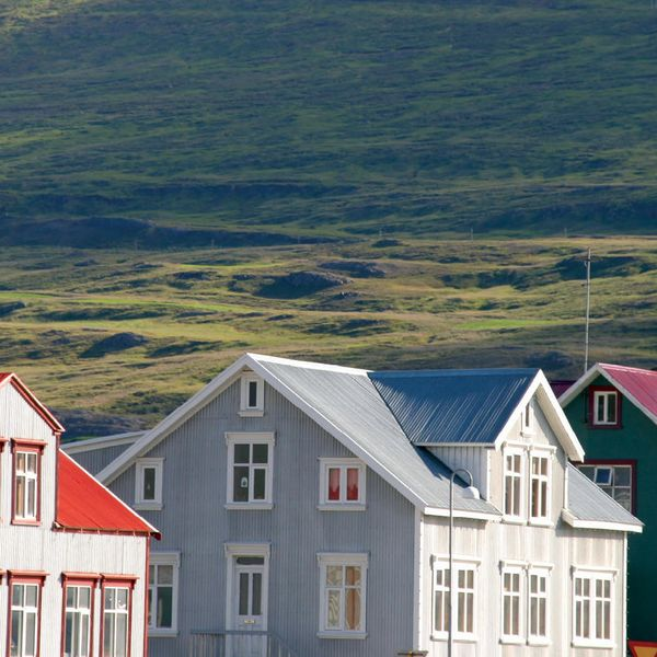 traditional houses in reykjavik center