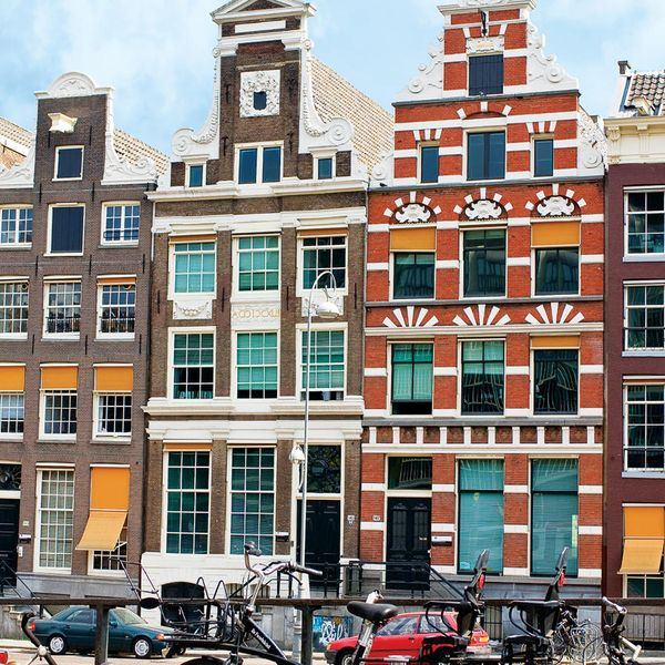 traditional old buildings in amsterdam the netherlands