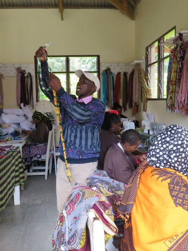 Local artisans at the Shanga River House in Tanzania