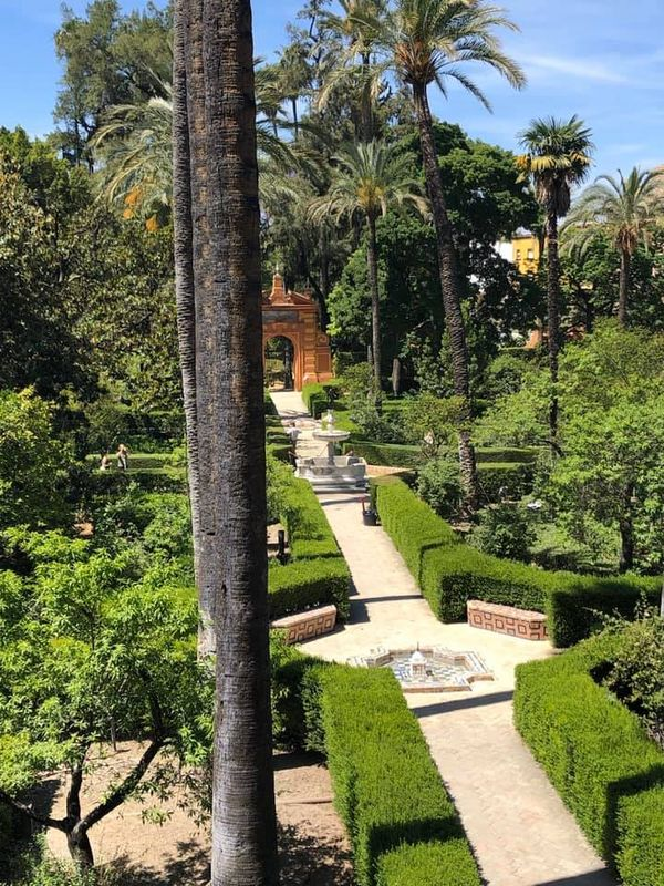 Royal Alcazar Gardens in Seville, Spain