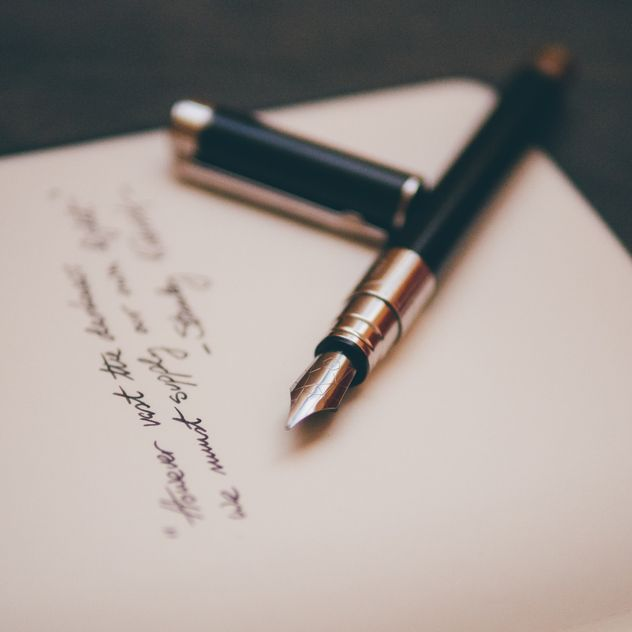 Pen writing a will