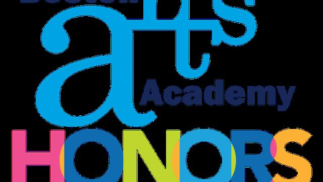 A colorful image of the Boston Arts Academy Honors logo.