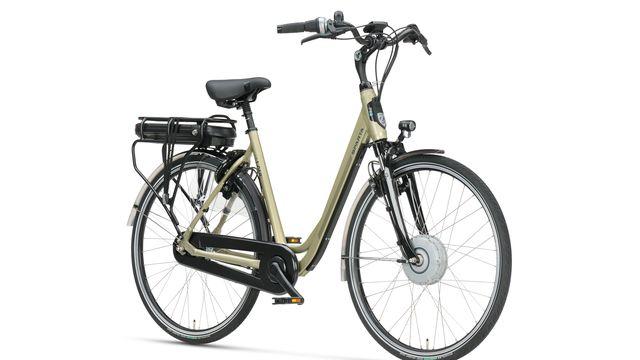Vooraanzicht dames e-bike A-lane f8e opalgreen gloss van Sparta