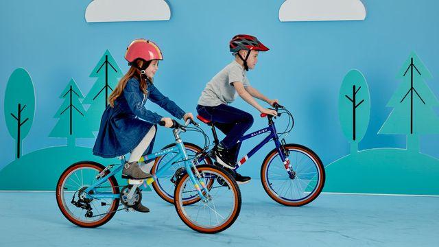 Kids riding Raleigh POP Bikes