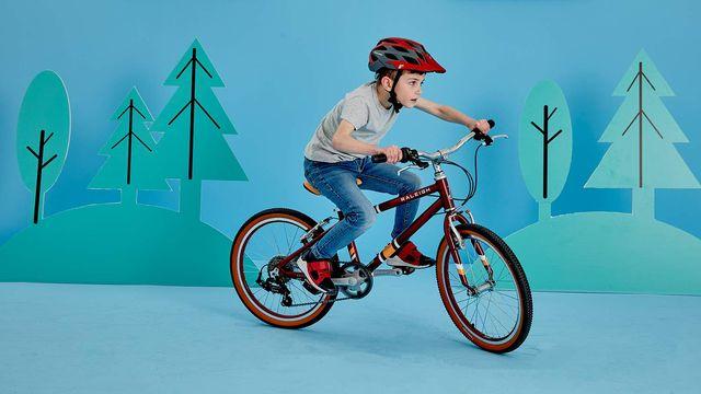 A child riding a Raleigh POP bike