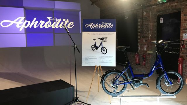 Picture of the Aphrodite bike on Exhibition
