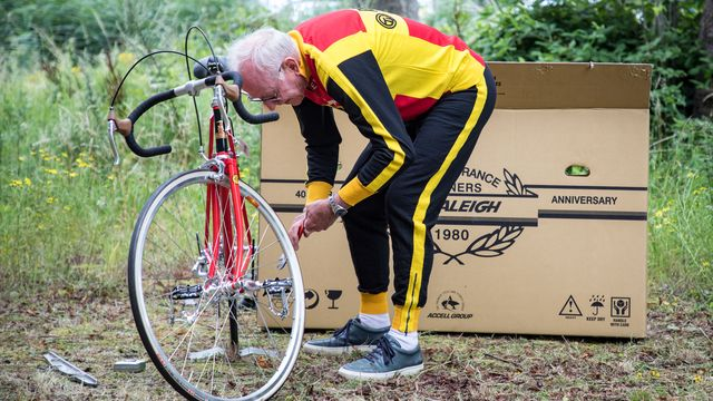 Joop Zoetemelk with his Anniversary Bike