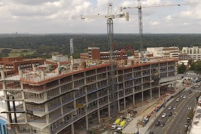 Hospital Project completed by Brasfield and Gorrie With Autodesk