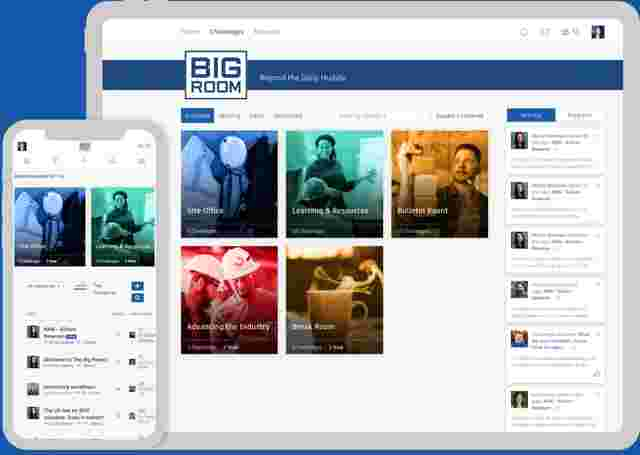 The Big Room Website in mockup devices
