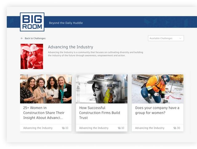 Screenshot of The Big Room Website