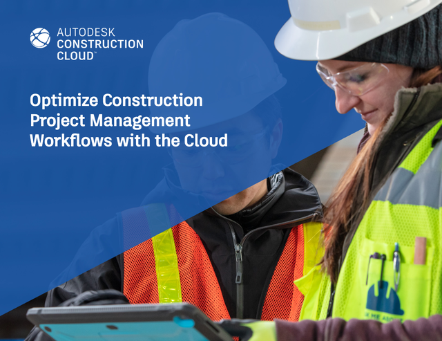 Two Construction Project Managers looking at information that helps them optimize project management workflows.