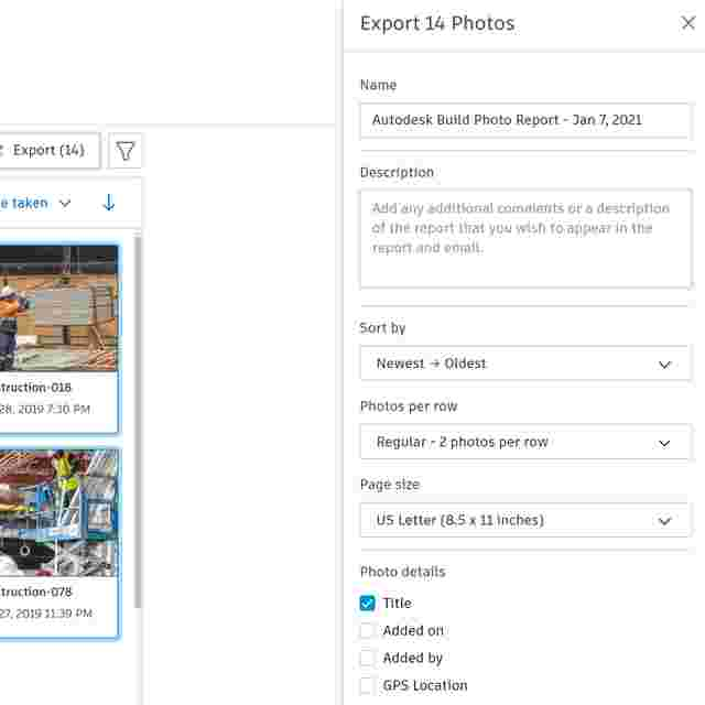 creating jobsite photo reports with Photo Management Software for Construction.