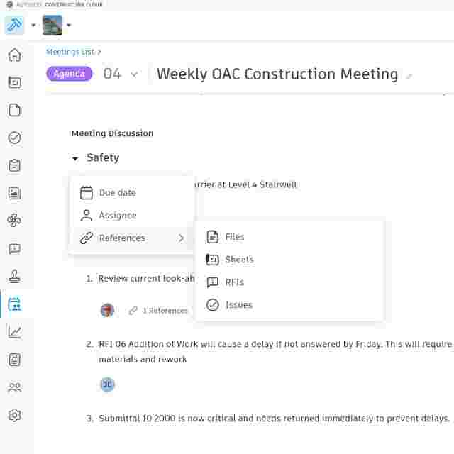 OAC meeting software in Construction Meetings Record Software.