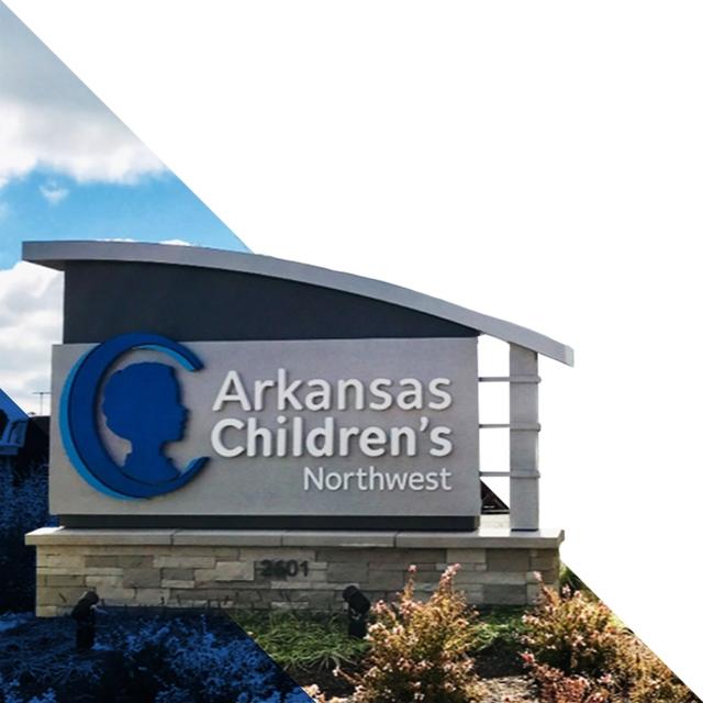 Arkansas Children's Hospital welcome sign.