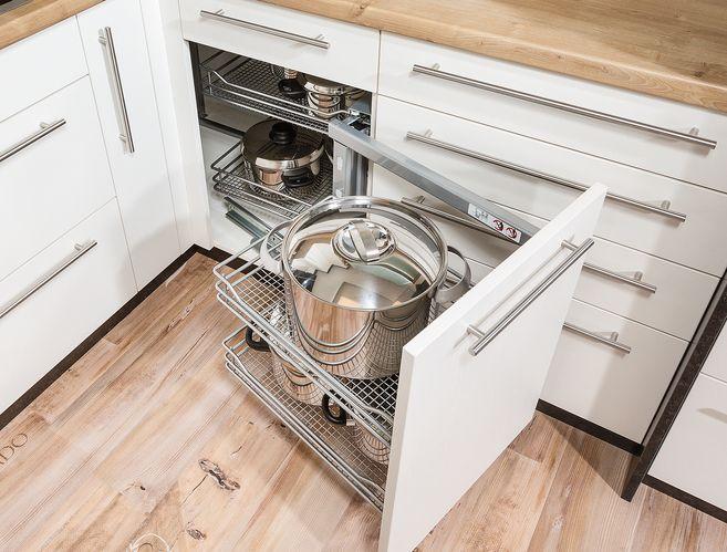 Stauraumlösung für die Küche.