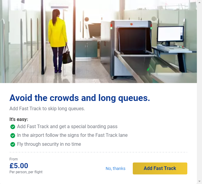 Ryanair checkout page
