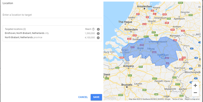 Adverise on geolocation with Google Ad Grants