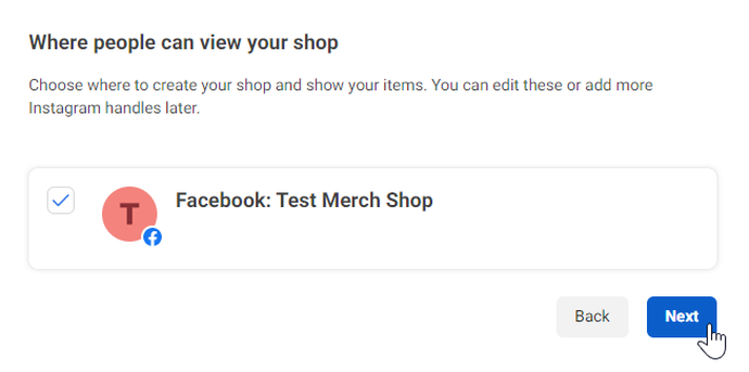 facebook shop catalogus kies pagina
