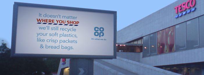 Co-op Tesco recycling ad
