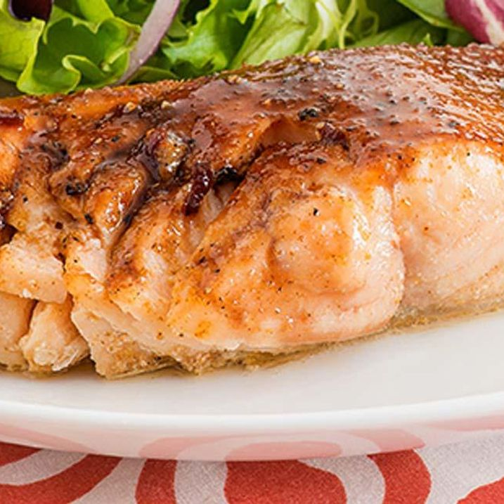 Spiced Salmon Fillets with Grape Juice Glaze
