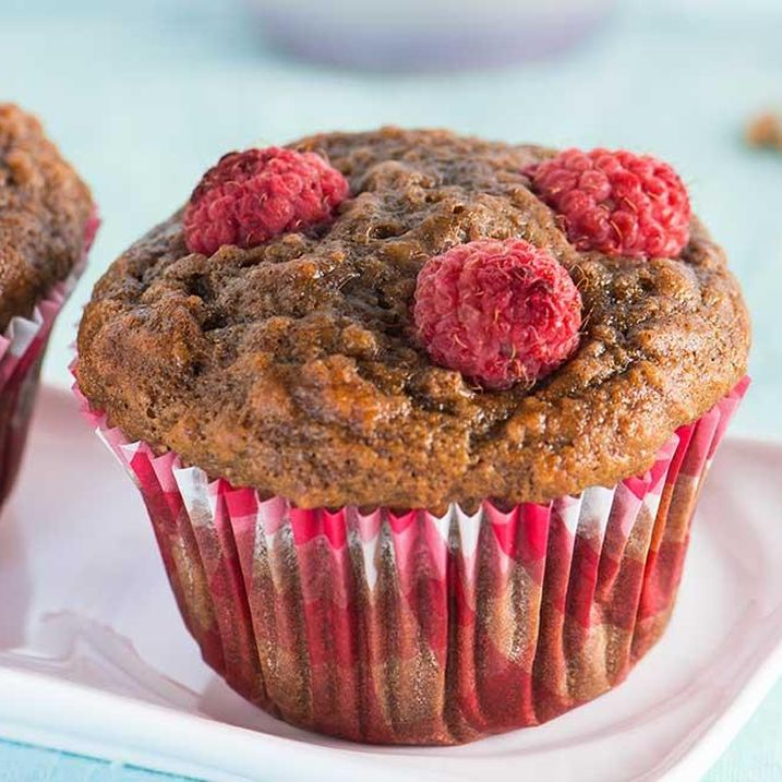 Raspberry Grape Mini Muffins
