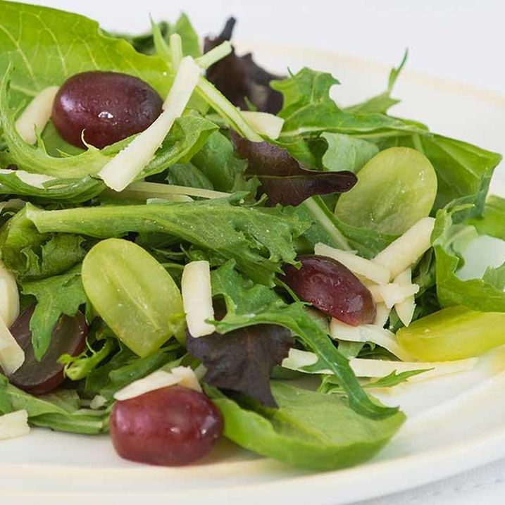 Grape and Cheddar Salad with Grape Yogurt Dressing