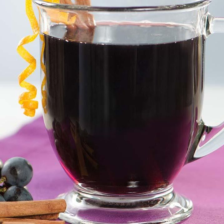 Warm Mulled Grape Juice