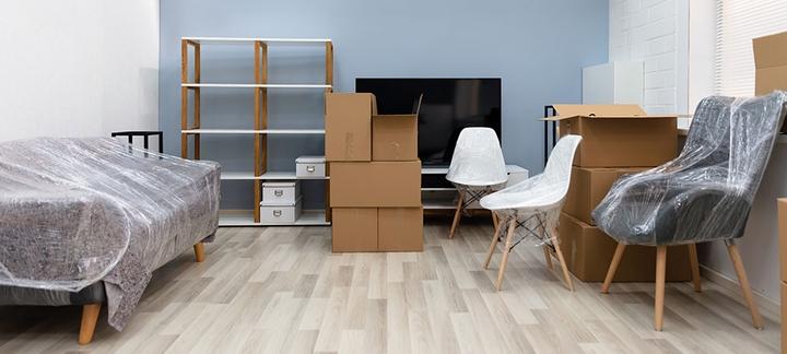 Möbel Während der Umzugsphase