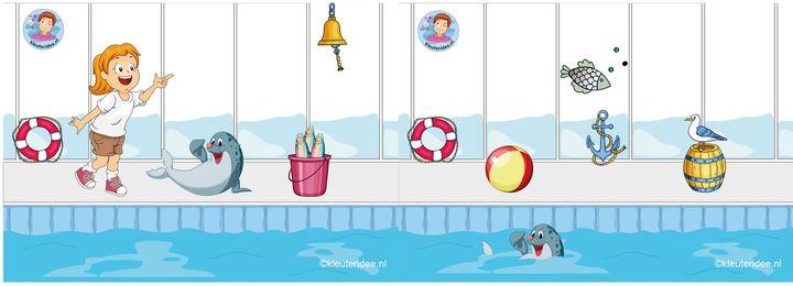 Achtergrond zeehondenshow compleet, watertafel voor kleuters, thema Zeeland, kleuteridee.nl, free printable