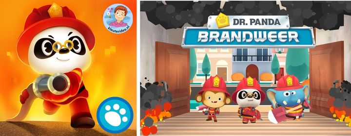 dr Panda, brandweer app kleuteridee