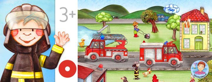Brandweermannetjes app, kleuteridee
