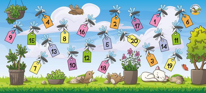 Muggenmeppermat getallen, kinderspeelmat