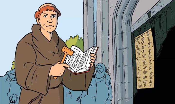 Hervormingsdag voor kleuters, kleuteridee.nl, Maarten Luther en de 95 stellingen