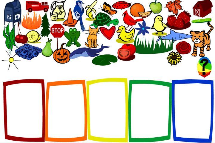Engels leren aan kleuters , colors , kleuteridee.nl