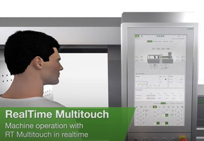 Video clip of real-time multitouch and control panels