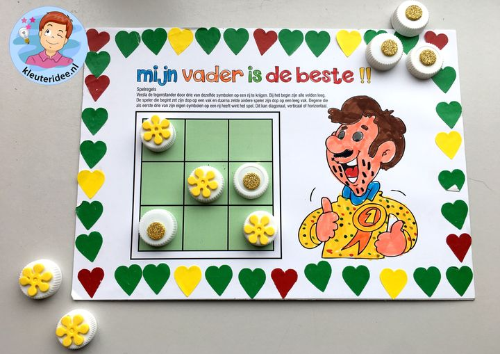 Spel voor vaderdag, kleuteridee.nl