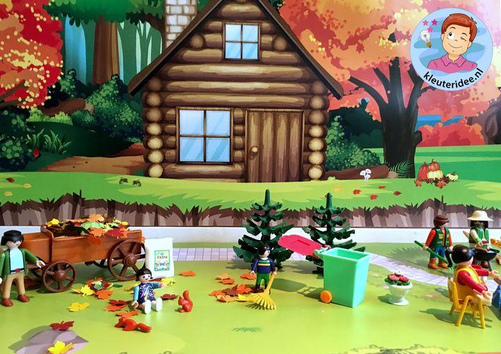 Herfstmat voor de speeltafel, kleuteridee thema herfst