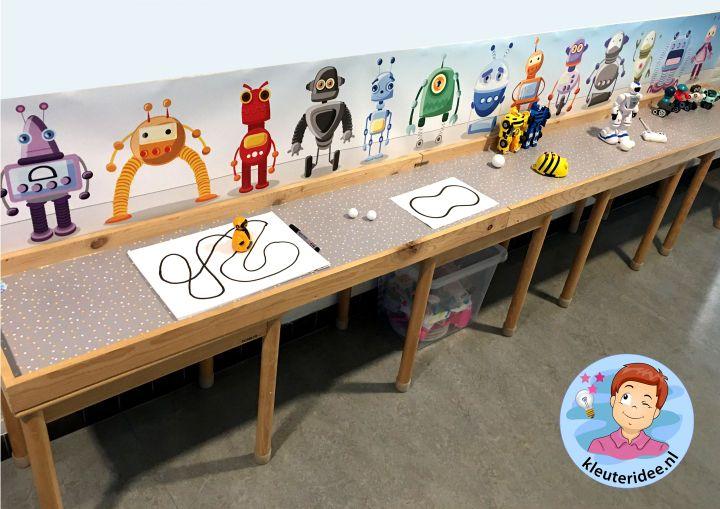 Speeltafel robot, thema robot, kleuteridee