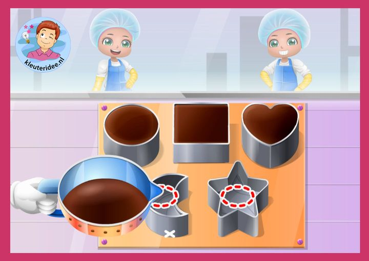Chocoladefabriek, kleuteridee