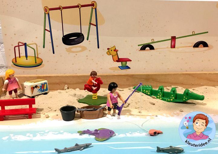 Speeltafel zomer, strand en zee, kleuteridee