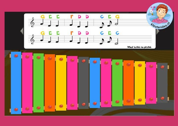 xylofoon spelen kleuters, kleuteridee