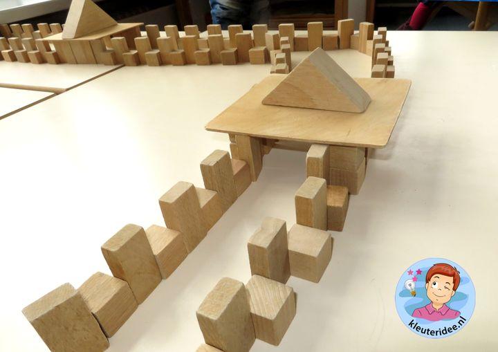 Chinese muur bouwen met blokken, thema China voor kleuters, kleuteridee