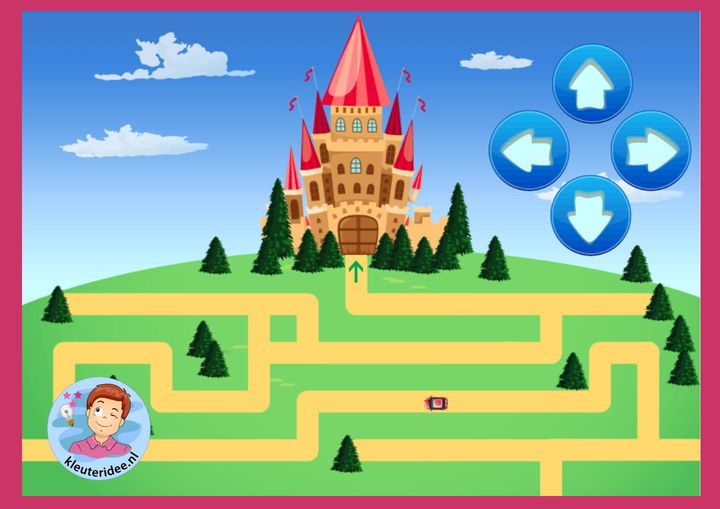 Doolhof, breng de auto naar het kasteel