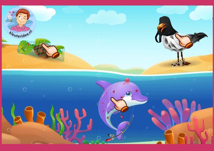 Dieren redden in de oceean