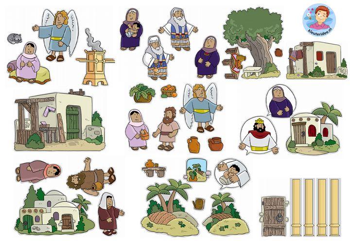 Advent, de geboorte van Johannes de doper, ontmoeting v Maria en Elizabet, flanelplaten voor kleuters 1, kleuteridee.nl ,Christmas nativity, Flannel Bible Sheets, free printable