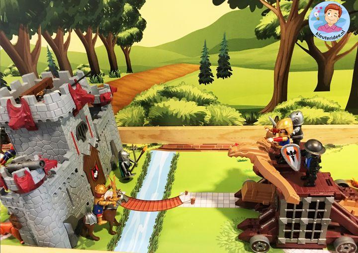 Speeltafel thema ridders en jonkvrouwen, kleuteridee 2